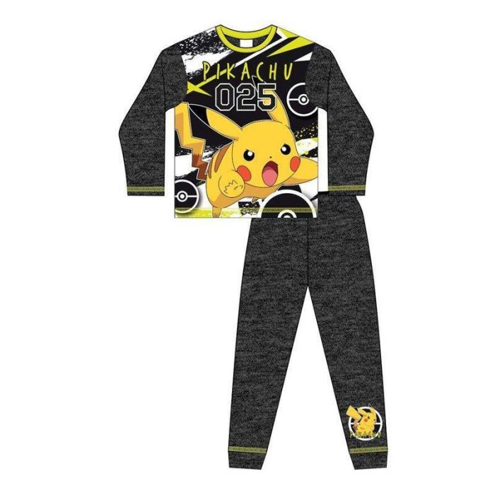 Kids Birthday Gift Idea Boys Pokemon Gifts Childrens Clothes Official Merchandise School Boys PJs Pokemon Pikachu I Choose You Boys Long Pyjamas Set