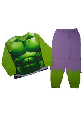 Boys Avenger Hulk Novelty Nightwear Pyjamas set Fancy Dress Age 2 To 8 Years