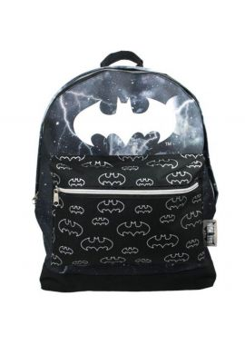 BATMAN Backpack Bags Rucksake With Front Pocket & Batman logo