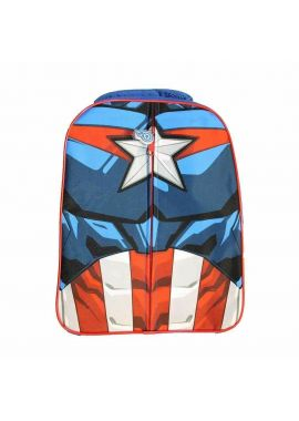 Kids Marvel Avenger Captain America Boys Novelty Rucksack Backpack