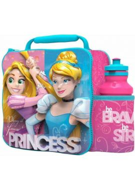 Disney Princess 3D Lunch Bag Box Drink Bottle Set School Nursery Children NEW