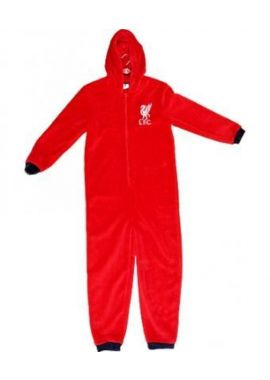 NEW Boys Liverpool FC Hooded Sleep suit All in One Jumpsuit nightwear 4 5 years
