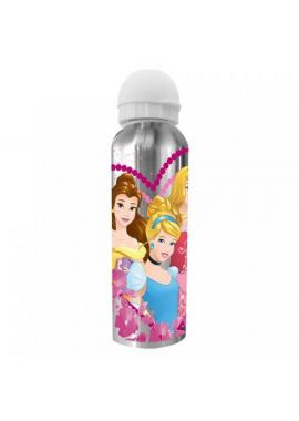 Girls  Aluminium Water Drinks Bottle Childrens Canteen  Disney Princess 22cm x 6.5cm x 6.5cm