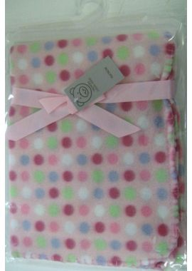 Super Soft Fleece Pink Blanket For New Born Baby