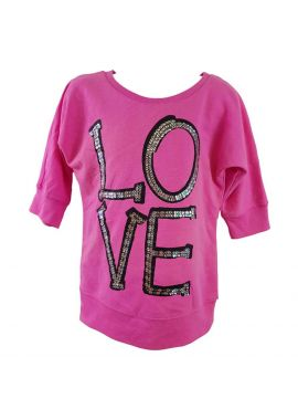 Girls 3/4 Sleeve Top T-Shirt Ex Chain Store Ages 5 6 7 8 9 10 11 12 13 Years NEW