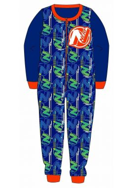 Nerf Boys Kids All In One Piece Sleepsuit Nightwear Pyjamas Age 3-4, 5-6, 7-8 And 9-10 Years