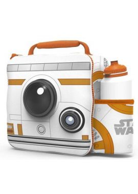 Star Wars BB8 3D Lunch Box Bag With Sport Water Bottle Kids