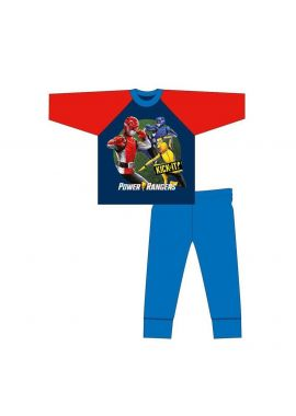 Power Ranger Boys Long Sleeve Top And Bottoms Pyjama Set 4-10 Years