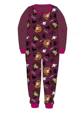 Harry Potter Fleece All In One  Pyjamas Pjs Hogwarts Official Girls Boys Age 3 to 10 years