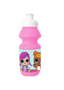 LOL Surprise Plastic Sports Bottle Girls 350ml,Ideal for Holiday, Back to School, Nurserys or days out !!