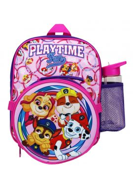 Girls Paw Patrol Backpack Rucksack 3 Piece Lunch Bag and Water Bottle