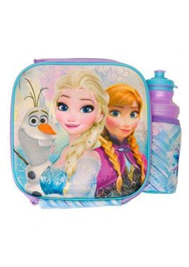 Disney Frozen Elsa, Anna & Olaf 3d Lunch Box Bag With Bottle
