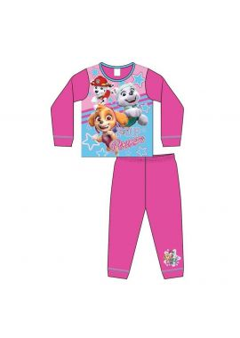 Girls Paw Patrol Pink Sky Marshall Kids Pyjamas Nightwear Age 18 Months - 5 Years