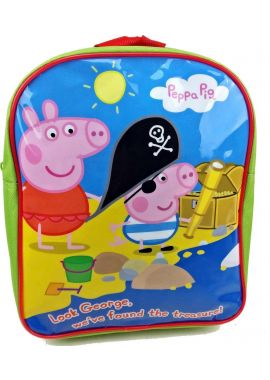 Peppa Pig george Light Green Sea Pirate Treasure Kids Childreen bacpacok