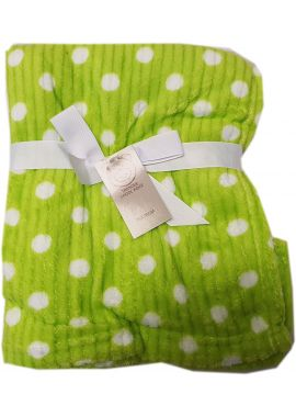 Luxury Super Soft  Warm Dotted Blanket For New Born Baby Green