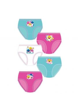 TDP Textiles Baby Shark Smile 5pk Girls Knickers 1.5-5 Years