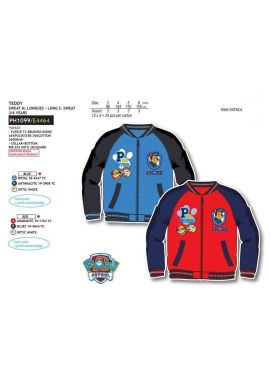 Paw Patrol Boys Kids Zip Jumper Flees Long Sleeve Age 3-6 years