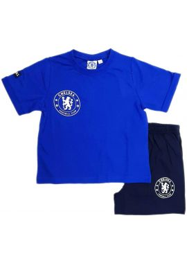 Chelsea FC Official Football Boys Gift Short Pyjamas 3/4, 5/6, 7/8, 9/10 And 11/12 Years Kids