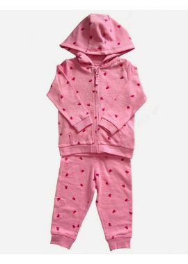 Mothercare Girls Butterfly Winter Jogging Suit 2 Piece Set Age 3-6, 6-9, 9-12, 12-18, 18-24 Months; 2-3, 3-4, 4-5 And 5-6 Years