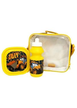 Official JCB Lunch Bag With Sandwich Box And Bottle Junior School Lunch Bag New