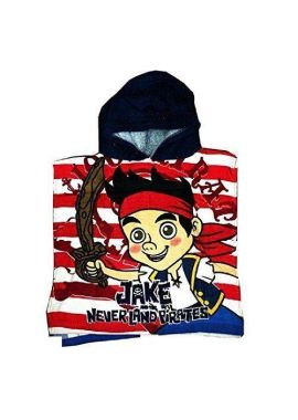 Hooded Bath Poncho Towel Kids Disney Jake and the Never Land Pirates Brand NEW