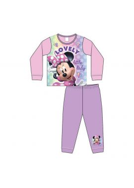 Girls Official Disney Toddler Minnie Mouse Sleepwear Pyjamas Pjs Nightwear