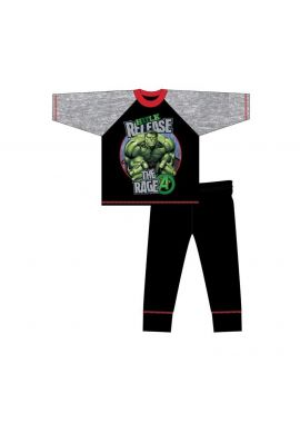 Hulk Release Long Sleeve Boys Pyjama Set Nightwear Age 4-10 Years