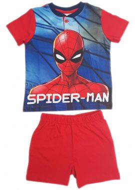 Marvel Spiderman Boys Shortie Shorts Nightwear Red Blue Age 3 to 8 Years