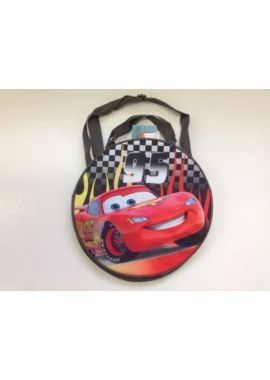 Disney Cars Lightning Mcqueen Round Shape Travel Bag Backpack with grab straps