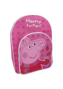 Peppa Pig Hooray For peppa Pink With Front Small Pocket Girls Backpack