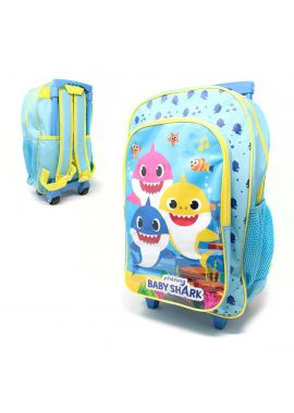 Baby Shark Girls Light Trolley Bag Kids Luggage Wheeled Bag Suitcase Travel Gift