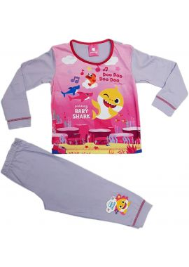 Kids Baby Shark Song Purple Pyjamas Girls Pinkfong Doo Doo Pjs Nightwear 18-24 Months 2-3, 3-4, 4-5 Years