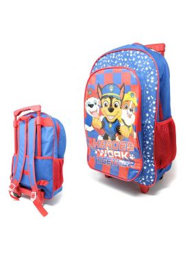 Paw Patrol Kids Trolley Cabin Bag Suitcase with Wheels and Telescopic Handle