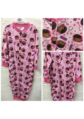Girls Doc Mcstuffins Cotton One Piece Sleepsuit Nightwear 18-24 months