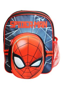 Boys Marvel Spiderman Backpack Rucksack With Pencil Case