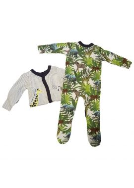 Baby Boy 2 pack Sleepsuit Babygrows 2 desigs included Sizes from 0 to 12 months