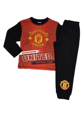 Boys Manchester United FC MUFC Man Utd Pyjamas Night Wear