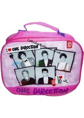 Girls One Direction 1D Pink Insulated School Lunch bag Sandwich Box Water Bottle