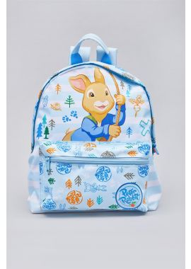 Peter Rabbit Woodland Striped Blue & White Children's Roxy Backpack