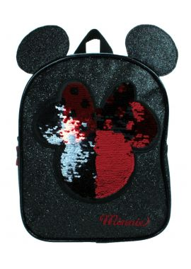 Girls Disney Minnie Mouse Backpack Toddler Sequin Glitter Sparkle
