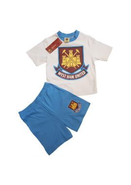 Boys Official West Ham United FC Hooded Fleece Dressing Gown Robes Sizes From 3 To 13 Years
