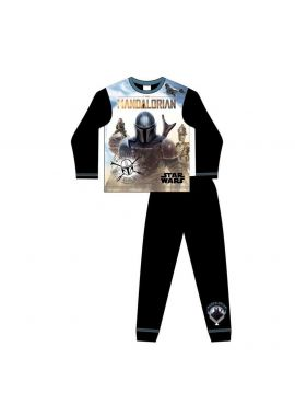 Star Wars Mandalorian Boys Pyjama Set Nightwear Age 5-12 Years
