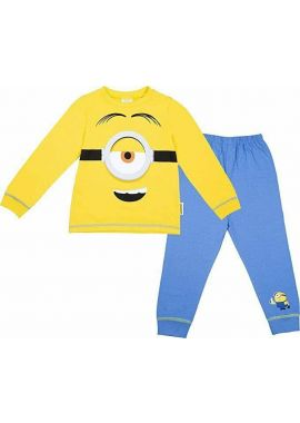 Minions Eye Yellow Kids Character Full Sleeve Pyjamas Boys Pjs Nightwear Kids Age 2/3, 3/4, 5/6 And 7/8 Years