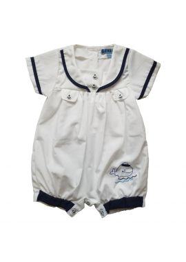 Baby Sailor Suit Romper Outfit Sizes from 0 to 9 months Red or Navy