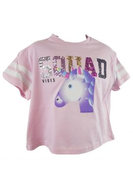 Girls Sequin Squad Unicorn Top Sizes from 6 to 14 years