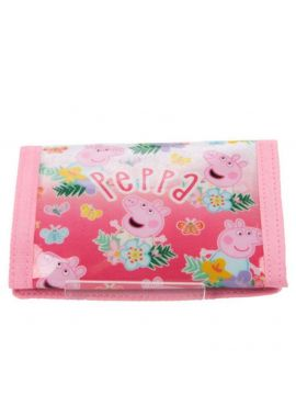 PEPPA PIG WALLET PURSE GIRLS TRIFOLD MONEY COINS NOTES  / Size H13 cm X W9.5 cm X D1.5 cm