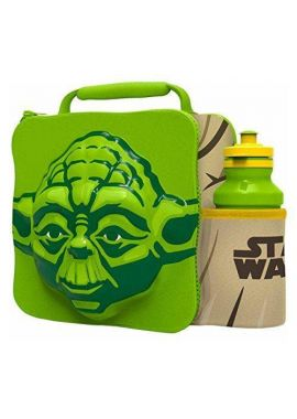 YODA Kids Children 3D Lunch Box Bag With Sport Water Bottle