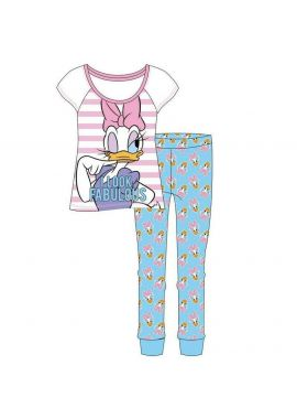 Diney Daisy Duck Ladies Cotton Official Pyjamas Set Women Nightwear Size 8-10, 12-14, 16-18 And 20-22