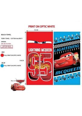 Cars Lightning Mcqueen 95 Beach Bath Towel Size 70 X 140 cm