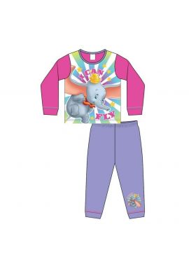 Girls Disney Dumbo Long Sleeve Pyjamas Set Kids Fly Pjs Age 18 Month To 5 Years
